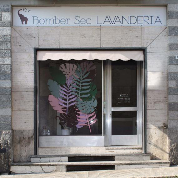 elisa_macchi_lavanderia_bombersec_vetrina_foglie